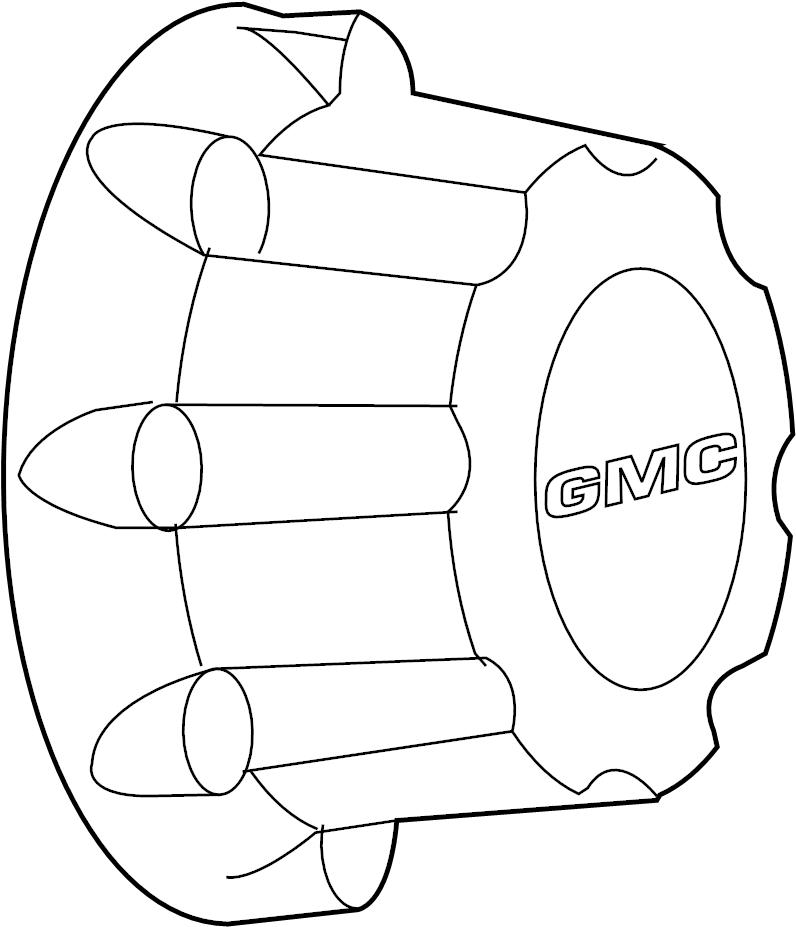 Gmc Sierra 1500 Classic Wheel Cover  Hub Cap  8 Lug  Code